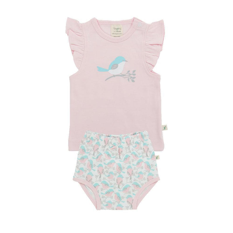Organic Cotton - Girl Baby - T shirt Set - Love Birds