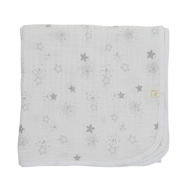 Organic Cotton Baby Muslin Wrap - Little Stars