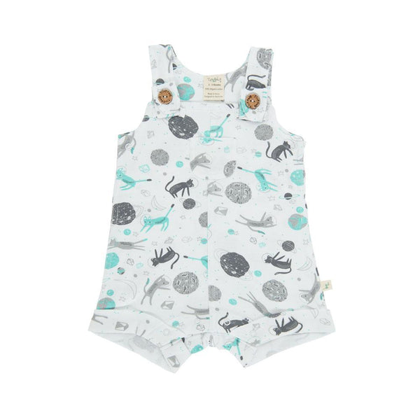 Organic Cotton Baby Overall Boys - Space Cat