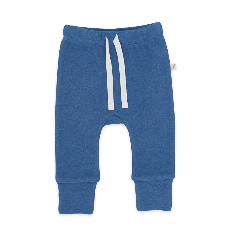 Organic Cotton Baaby Pant with Cuff - Navy Melange