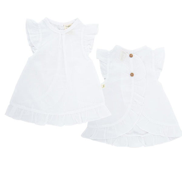 Organic Cotton Baby Petal Tee - White