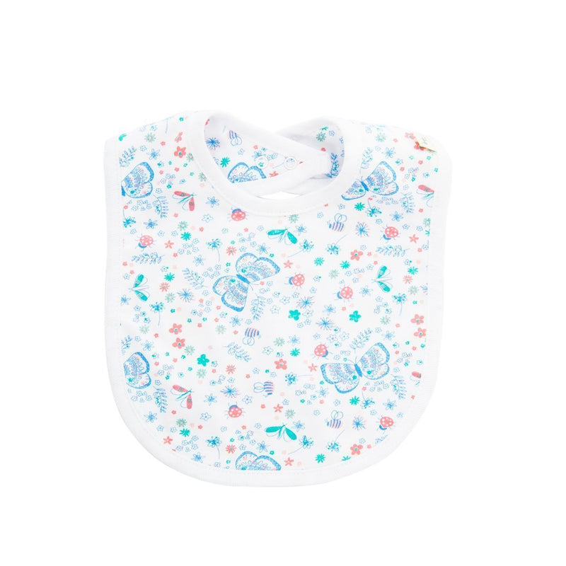 Organic Cotton - Reversible Bib - Butterfly