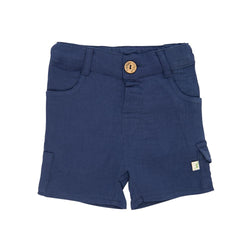 Organic Cotton Baby Shorts  - Navy