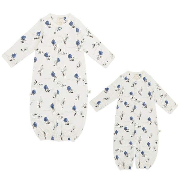 Organic Cotton Baby Sleepsuit - Mountain Yurt