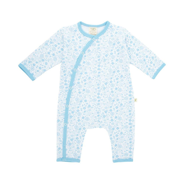 Organic Cotton Baby Snap Growsuit - Sunny Blooms