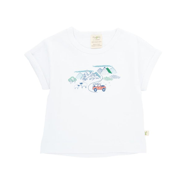 Organic Cotton Baby Bishop Tee - Mountain Explorer