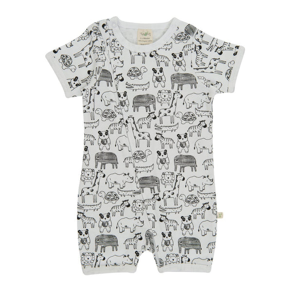 Organic Cotton - Baby - Zipsuit - Jungle Jive