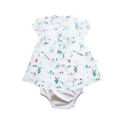 Organic Cotton baby Floral Dress with bloomer - Play Park