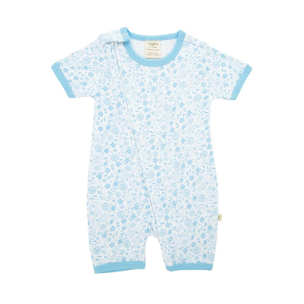 Organic Cotton Baby Zipsuit - Sunny Blooms
