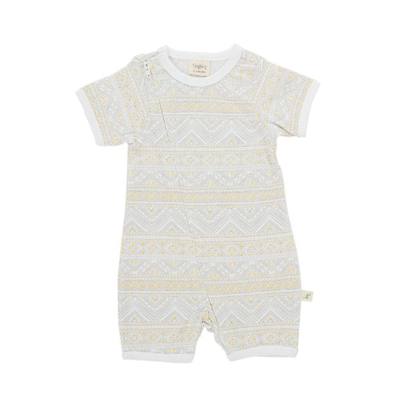 Organic Cotton Baby Zipsuit - Tiny Tribal