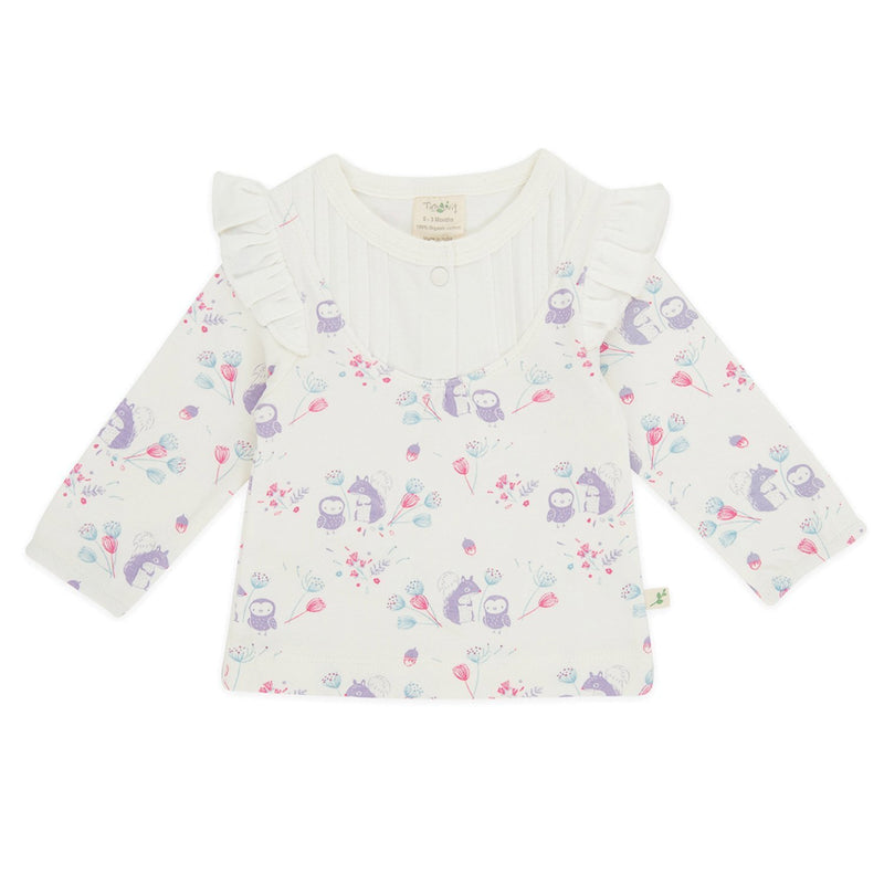 Organic cotton - Girl Baby T shirt - Into the woods