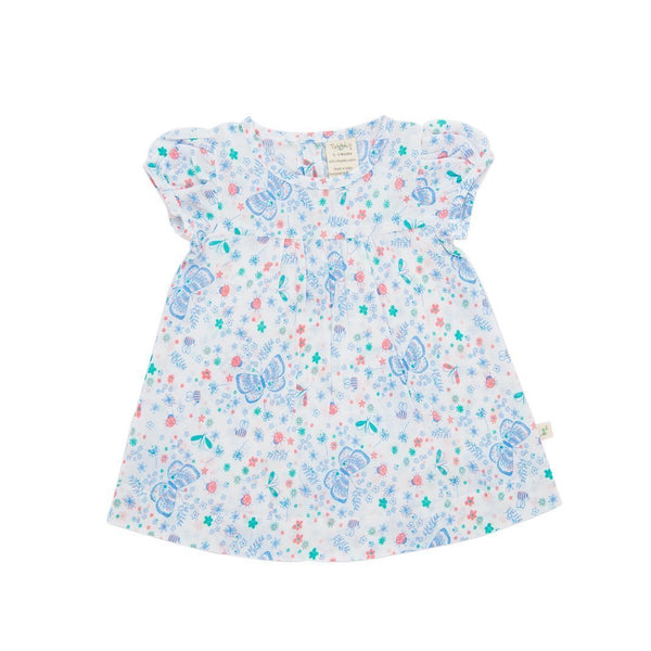 Organic Cotton Baby Girl Floral Dress - Butterfly
