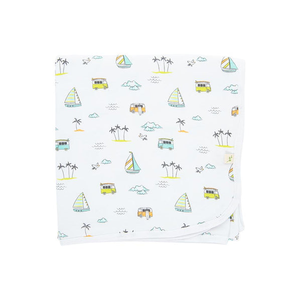 Organic Cotton Baby Blanket - Sail Boat