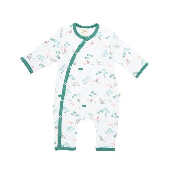 Organic Cotton Unisex Baby Snap Grow suit - Australiana
