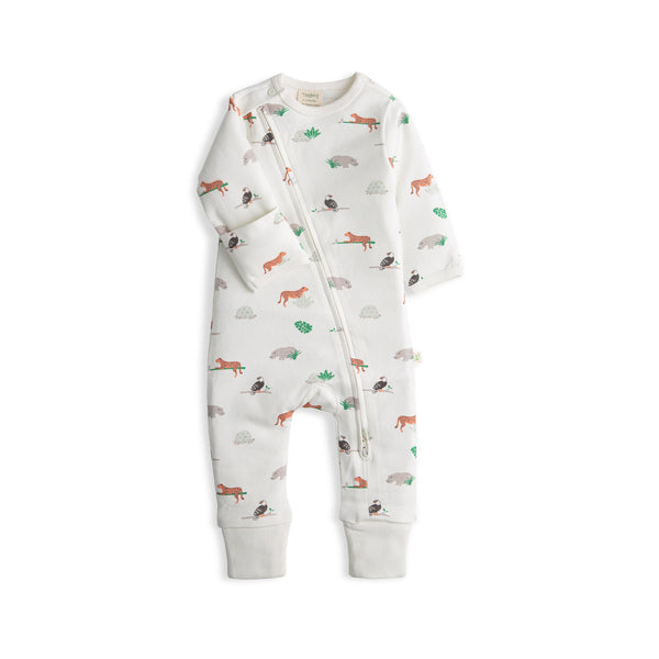 Animal Kingdom Organic Long Sleeve Zipsuit