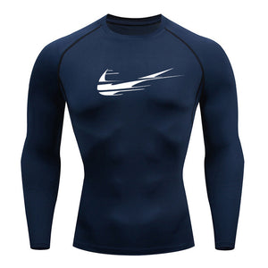 2019 new brand men's men's long-sleeved compression t-shirt fitness sports shirt T-shirt MMA men's sports T-shirt clothing