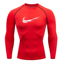 Load image into Gallery viewer, 2019 new brand men's men's long-sleeved compression t-shirt fitness sports shirt T-shirt MMA men's sports T-shirt clothing