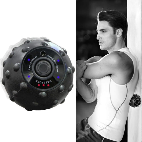 New 4 Speed High Intensity Vibrating Massage Ball for Fitness Yoga Muscle Relief Treatment LMH66