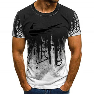 2019 New summer shirt cotton gym fitness men t-shirt brand clothing Sports t shirt male print short sleeve Running t shirtM-4XL