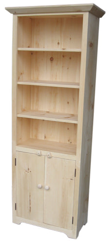 Rustic Split Bookcase