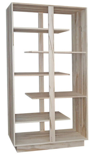 Open Staggered Bookcase