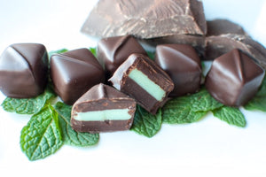 Andrew's Mints Ganache Truffles - Dark Chocolate Covered