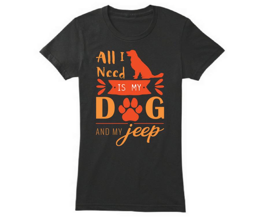 Love For Dog, Passion For Jeep, T-Shirt