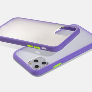 Mint Hybrid Simple Matte Bumper Phone Case for iPhone