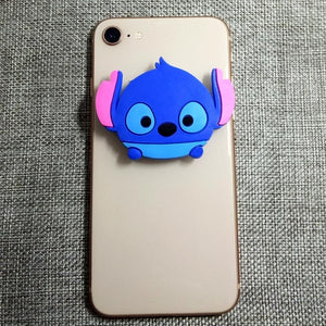 Cute 3D Cartoon Animal Stitch Mobile phone universal air bag grip bracket phone expanding stand finger holder Stand
