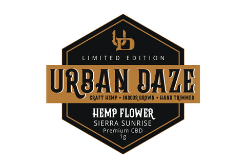 Urban Daze Craft Hemp Sierra Sunrise 1gm Label CBD