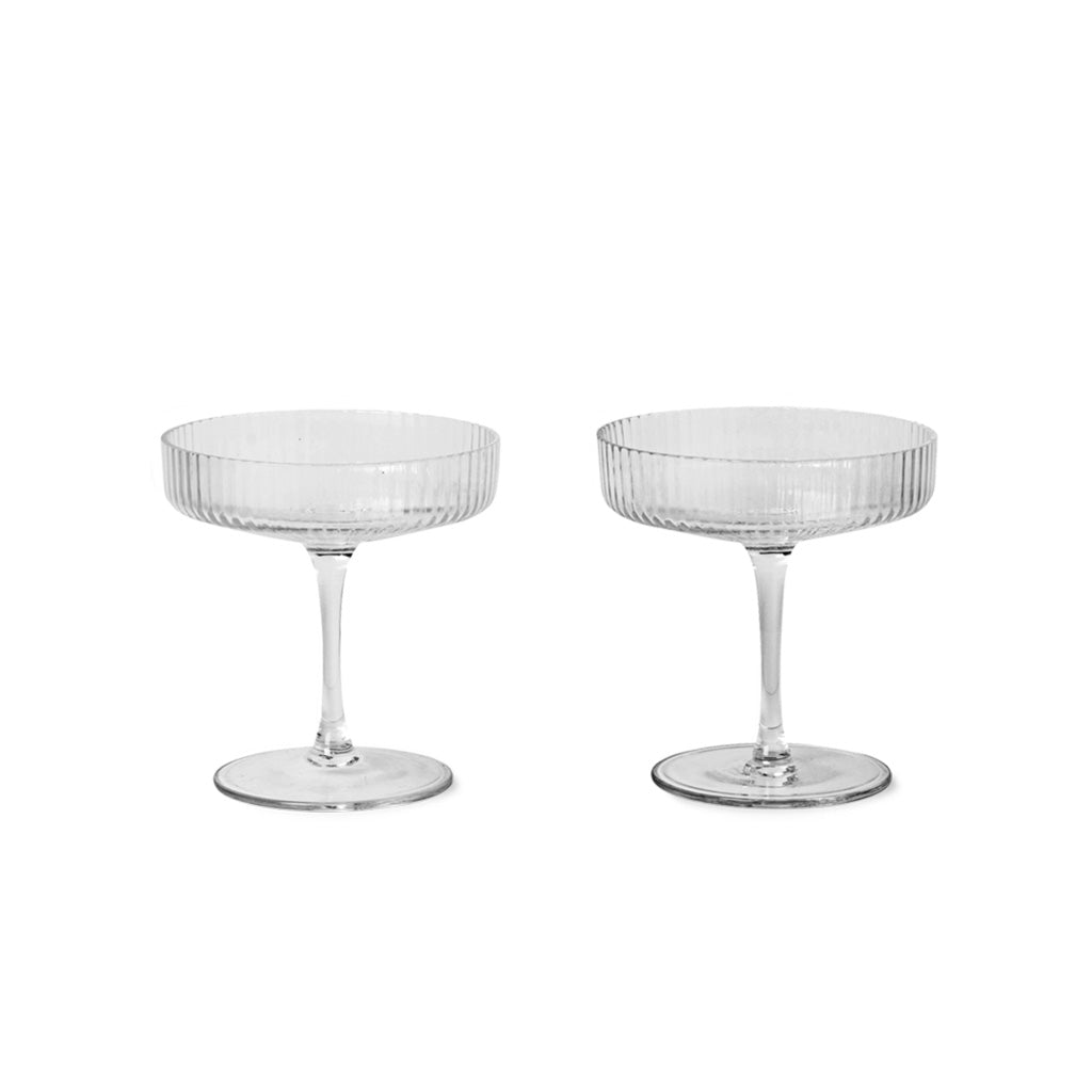 Ripple Champagne coupes by FERM - HALT - Happiness in Little Things - Knokke