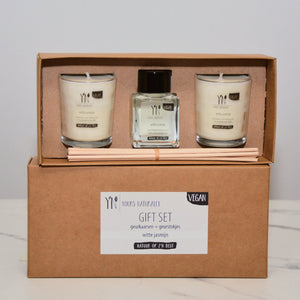 Giftset Geurkaarsen & Geurstokjes - HALT - Happiness in Little Things - Knokke