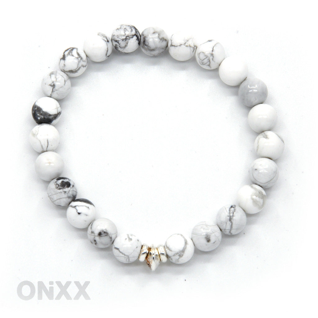 Howliet en zilver armband by ONiXX - Happiness in Little Things