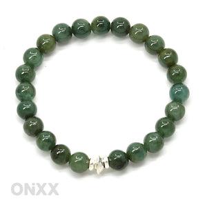 Groene Jade armband met Zilver by ONiXX - Happiness in Little Things