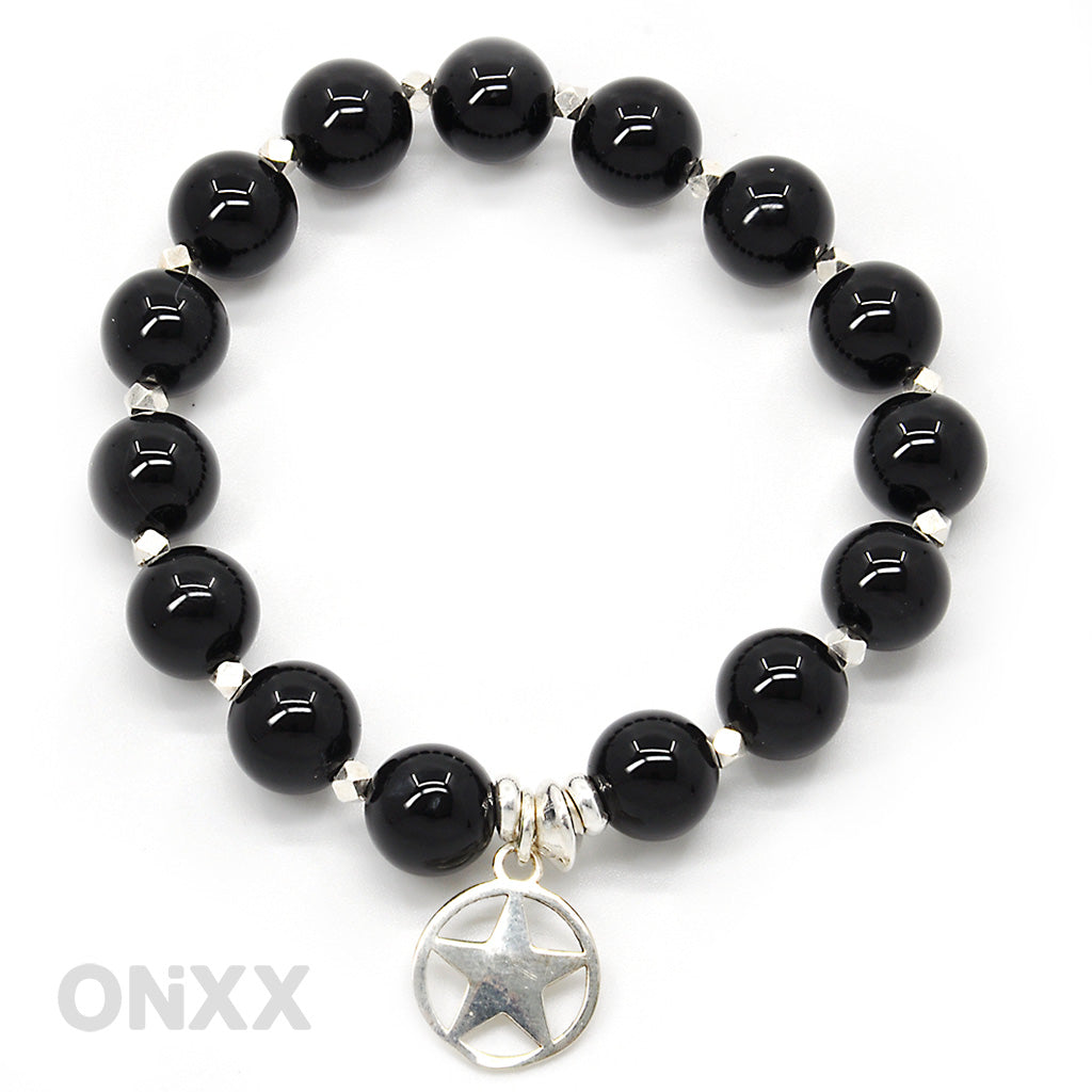 Onyx armband met ster zilver by ONiXX - HALT - Happiness in Little Things - Knokke