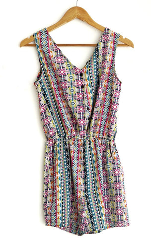 Romper tribal multicolor