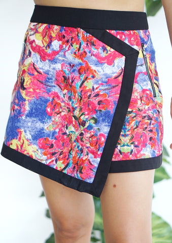 Falda/short estampado