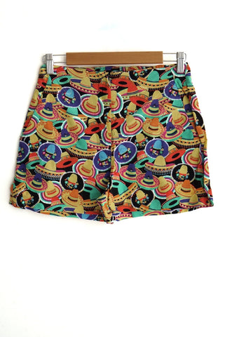 Short estampado mexicano