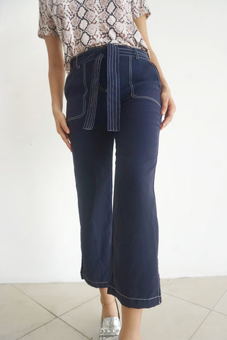 Pantalón azul highwaisted