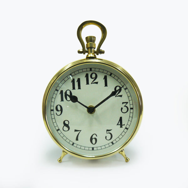 "Brass Table Clocks 6"" Sb Finish"