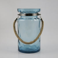 Amanda W/ Rope Handle Glass Vase (Blue)