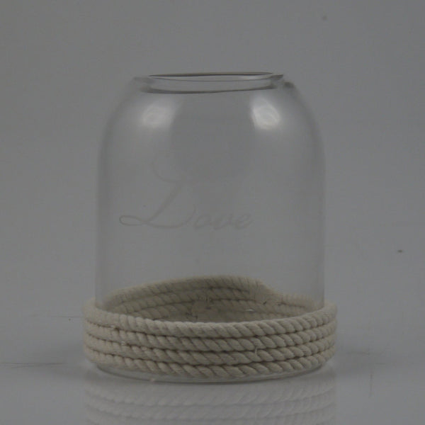 Love W/ Rope Candle Holder