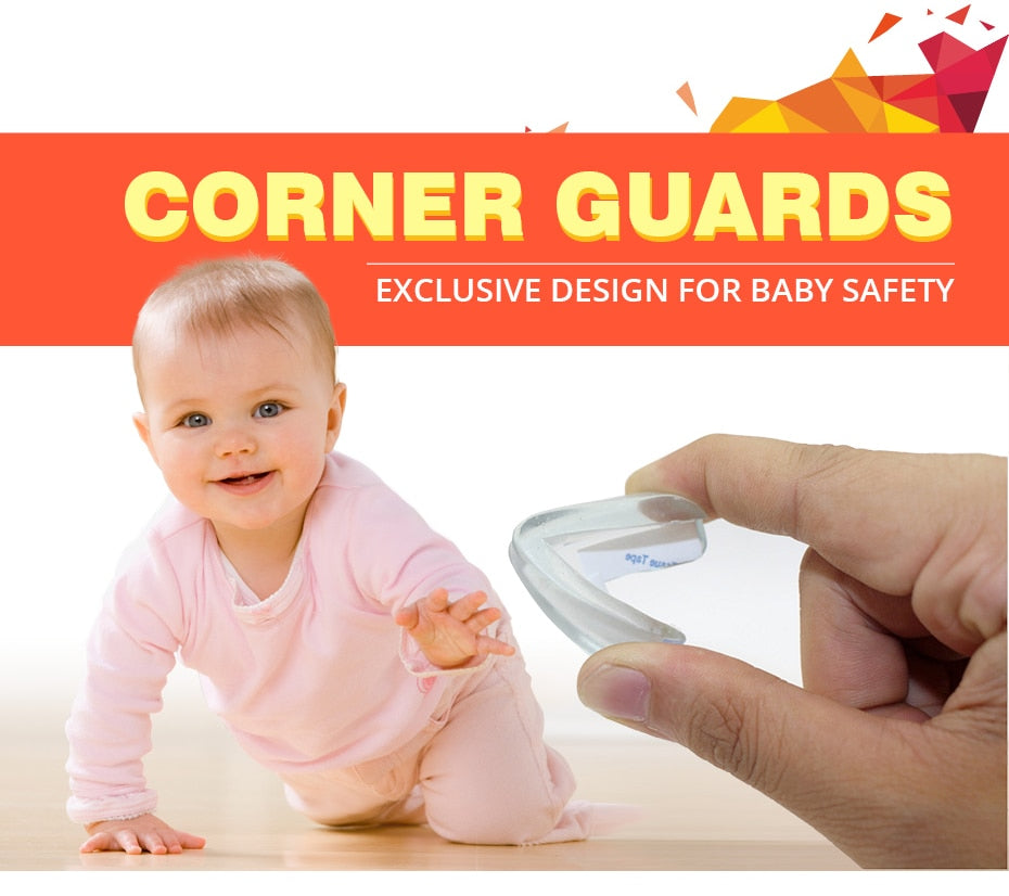 4Pcs Child Baby Safety Transparent Silicone Protector