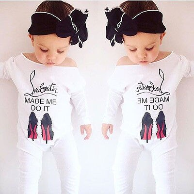 Newborn Baby Girl Printed Romper Outfits 0-24M