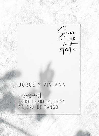 Save the date - White