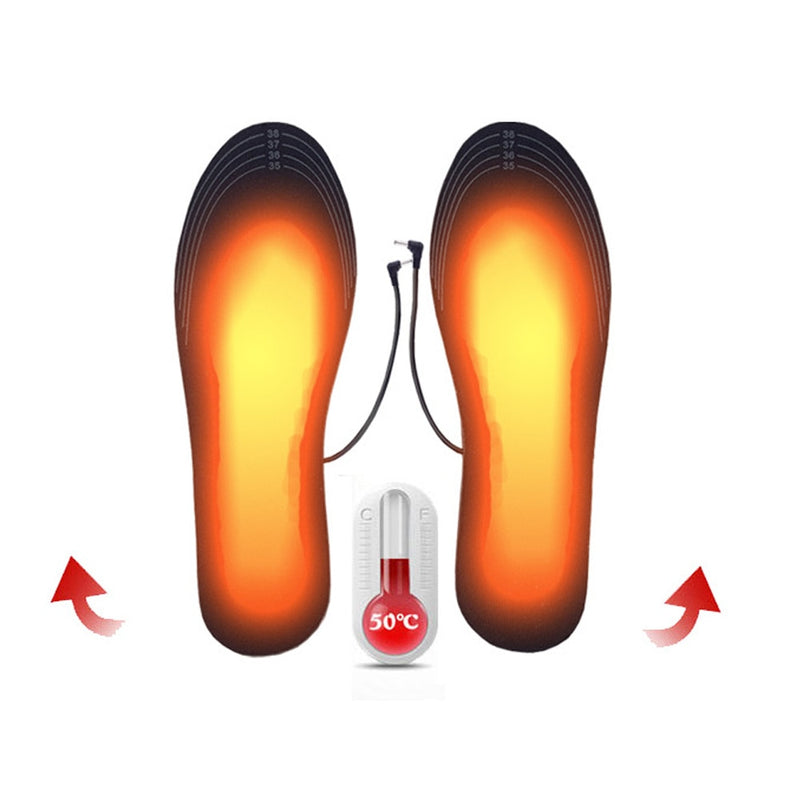 USB Heated Shoe Insoles - Foot Warming Pad