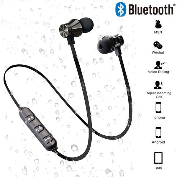 Magnetic Wireless Bluetooth Earphone With Mic (Waterproof)