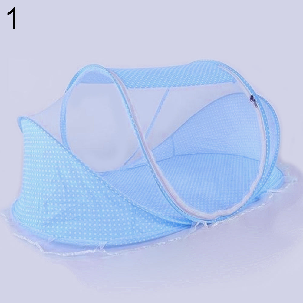 Baby Bed Folding Summer Anti Mosquito Net Modeling Mattress Pillow Tent Crib - Sofizara