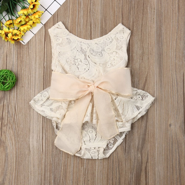 Pudcoco Summer Lace Flower One-piece Outfit Sunsuit - Sofizara