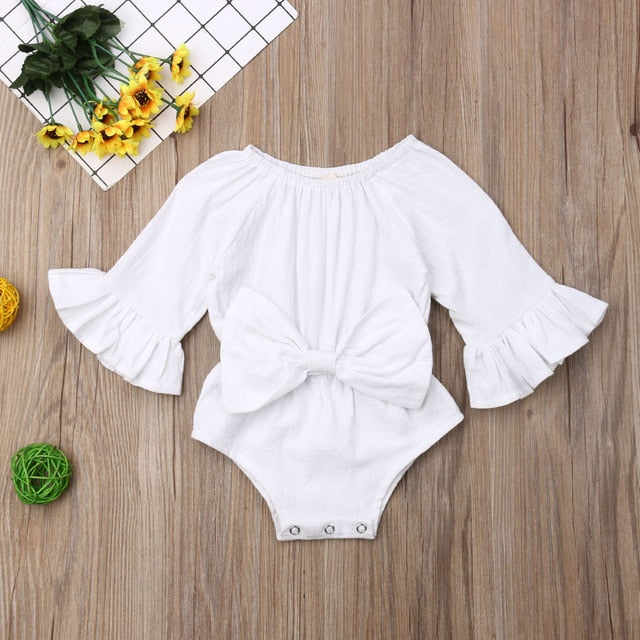 Pudcoco The Waist Cotton One-Piece Outfit Set - Sofizara